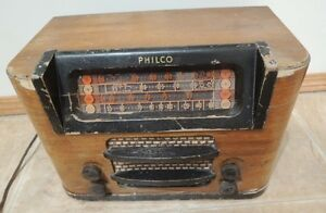 WW2 Vintage Tube Radio 1941 /42 Philco 19-0089  Chassis 49 121