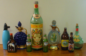 VINTAGE LIQUOR BEER BOTTLES