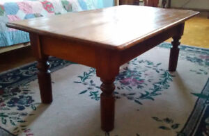 Coffee Table  Real Cherry  Antique  RUSTIC  From Harvest Table