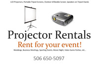 Projectors, Screens and Speakers for Rent