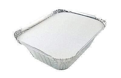 Handi-foil 1 Lb. Oblong Pans Wboard Lids 50 Sets - Aluminum Take-out Containers