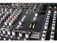 Allen and Heath zed 436 analogue mixing desk