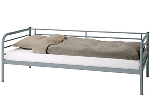 Single ikea svarta bed and mattress