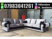**25% off ** NEW CRUSH VELVET TANGO CORNER OR 3 And 2 seaters sofa Clearence Sales