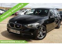 2014 BMW 1 SERIES 1.6 114D SPORT 5D BLACK 1 OWNER + JUST SERVICED AT BMW DEALER