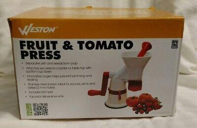 Tomato Press - Weston Fruit & Tomato Press Sauce Maker Food Press 67-1101-W