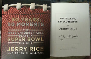 Jerry Rice Signed Book Autographed 50 Years, 50 Moments