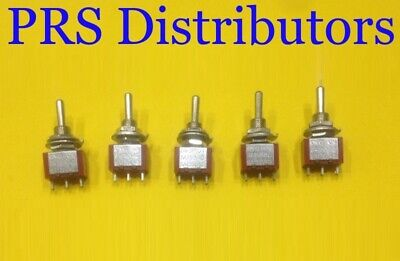 Mini Toggle Switch 3 Position Onoffon Spdt 5a 125v 5 Pieces