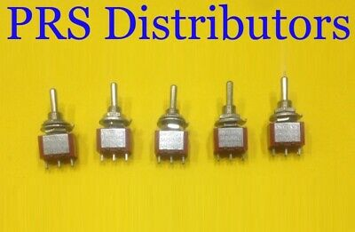 Mini Toggle Switch 3 Position Onoffon Spdt 6a 125v 5 Pieces