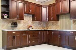 Solid Maple Chocolate choco Kitchen Cabinets on Sale!