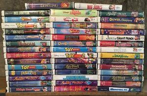 DISNEY RARE VHS MOVIES ! HUGE LOT !
