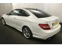 2011 WHITE MERCEDES C220 2.1 CDI AMG SPORT DIESEL COUPE CAR FINANCE FR £37 PW