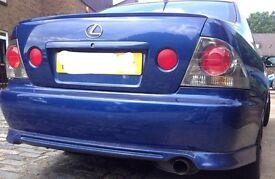 Lexus is200 bumper blue 8n8 tte TRD aero sport? Lip spoiler 98+ breaking spares is 200 is300