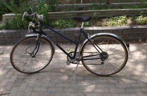 Raleigh blue Mountain Bike with speedometer