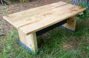 Trestle Style Rustic Coffee Table