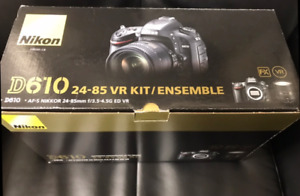 New nikon d610 24-85 vr kit camera neuf