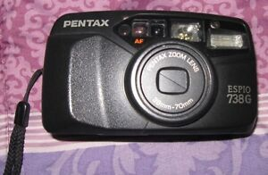 Pentax Espio 738G point & shoot 35 mm camera.