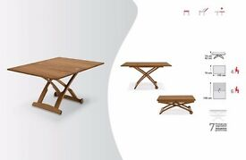 Mascotte Coffee table turns into 6 seater dining table
