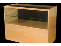 Shop Display Glass Unit in Maple/Ref:0309