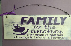 Handmade wooden signs for mother and Father's Day