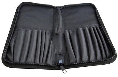 Schwarze Tasche aus Nylon für 16 Pinsel