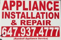 CERTIFIED APPLIANCE INSTALLATION 647-937-4777 Reasonable Prices