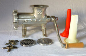 Alfa #22 Meat Grinder and Sausage Stuffer, extra plates, more