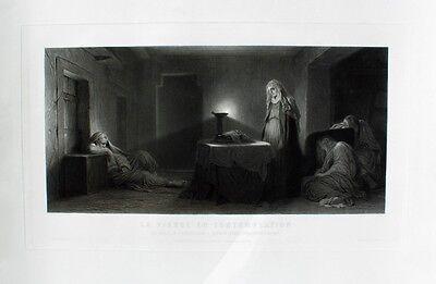 Paul Delaroche Traum Trance Kontemplation Jungfrau Maria Virgin Somnambulismus