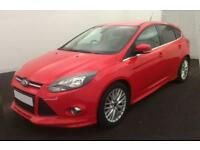 2014 RED FORD FOCUS 1.0 ECOBOOST 125 ZETEC S PETROL HATCH CAR FINANCE FR £25 PW