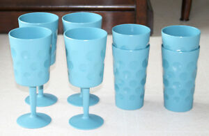 Various outdoor plastic drink and serving ware