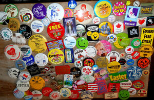 Assorted Bundle of Pin Back Buttons : Wal-Mart, Movies, others