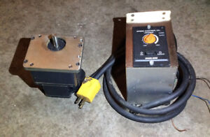 BRUSHLESS DC STEPPER MOTOR AND REVERSIBLE CONTROLLER 120 VAC