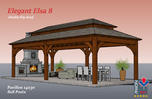 Gorgeous Kits for your Backyard, Pavilion, Pergola Kits