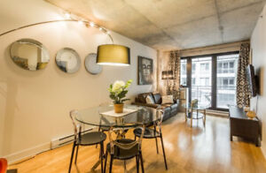 1 Bdr Condo in Griffintown For Rent - Furnished + Garage
