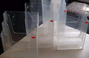 Used 3 tiered acrylic literature holders