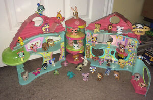 40 Littlest Pet Shop Lot ~ Dogs, Cats, Playset + FREE SHIPPING!!