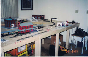 Toy Train Layout Table - 16' x 8' x 3' tall