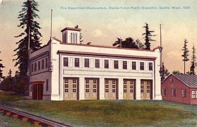Alaska Yukon Pacific Expo Fire Dept  Seattle  Wa 1911