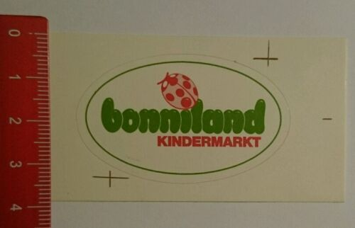Aufkleber/Sticker: bonniland Kindermarkt (06081641)