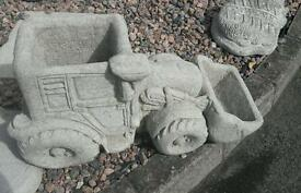Tractor planter garden ornament
