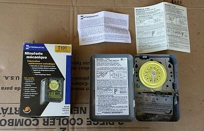 New Intermatic T101 Mechanical Time Switch 24 Hour Dial