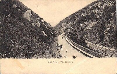 Irish Postcard - The Scalp, Co.Wicklow Posted September 1904 (112 Years Old)