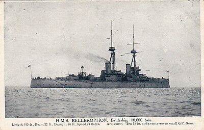 Postcard Ship Hms Bellerophon