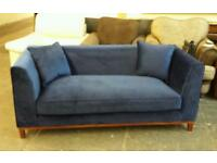 New blue velvet 2:1/2 seater sofa only £169