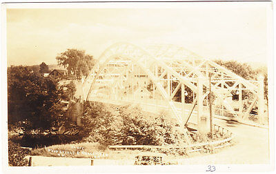 Bridge Between Woodsville Nh   Wells River Vt Rppc 1933