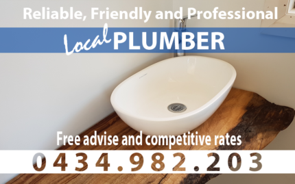 Plumber – Friendly and Reliable – Drains Cleared f/ $160