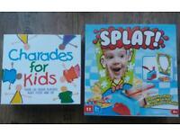 NEW kids board games splat & charades