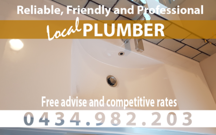 Plumber - Drains Cleared f/ $160 - General Plumbing and more