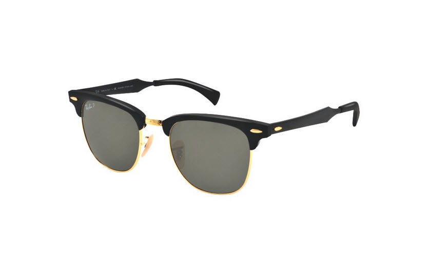 974d482e62d Ray Ban RB 3507 136 N5 CLUBMASTER Black Gold Unisex Polarized 51MM ...