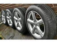 Genuine Audi 19 alloys 5x112 Volkswagen Mercedes Seat Skoda + Branded tyres